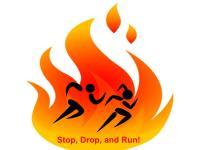 Stop Drop and Run FUN RUN registration logo