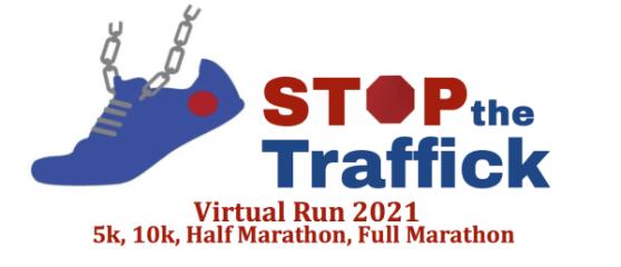 Stop the Traffick Virtual Run January 2021 5K, 10K, Half Marathon & Full Marathon registration logo