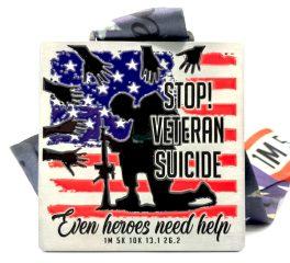 Stop Veteran Suicide 1M 5K 10K 13.1 26.2 registration logo