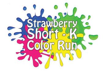 Strawberry Short-k Color Fun Run registration logo