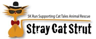 Stray Cat Strut 5k registration logo