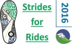 Strides for Rides 5k registration logo