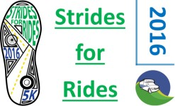 Strides for Rides 5k registration logo