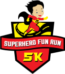 Superhero 5k Fun Run registration logo