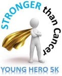 STRONGER than Cancer Young Hero 5k registration logo