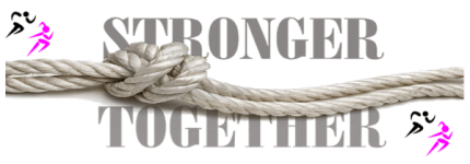Stronger Together 5K Run registration logo