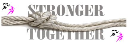 Stronger Together 5K Run registration logo
