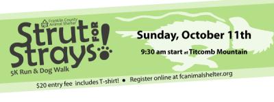 Strut for Strays 5K Run & Dog Walk registration logo