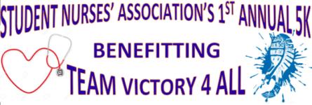 Student Nurses Association Spring 5K registration logo