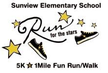 Sunview Elementary Run for the Stars 5k registration logo