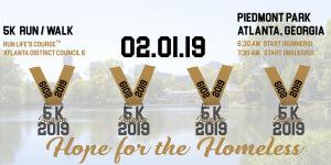 On SuperBowl Weekend 5K Walk/Run - Hope for the Homeless registration logo