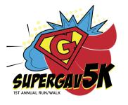 Super Gav 5K registration logo