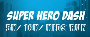 Super Hero Dash - 5K/10K/Kids Run registration logo