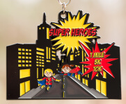 Super Heroes Day 1 Mile, 5K & 10K registration logo