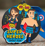 Super Heroes Undies Run 5K 10K registration logo
