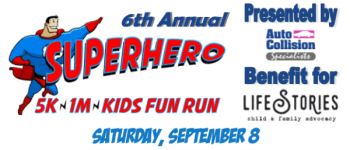 Superhero 5K registration logo