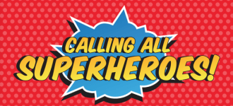 Superhero Comic Run  registration logo