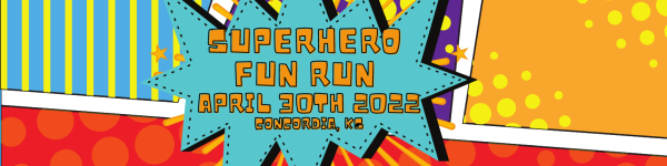 SuperHero Fun Run registration logo