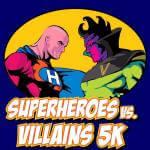 Superheroes vs. Villains 5K  registration logo