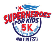 SuperHeros For Kids 5k - Fostering Community registration logo