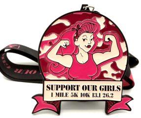 Support Our Girls 1M 5K 10K 13.1 26.2 registration logo