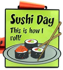 Sushi Day 1M 5K 10K 13.1 and 26.2 registration logo