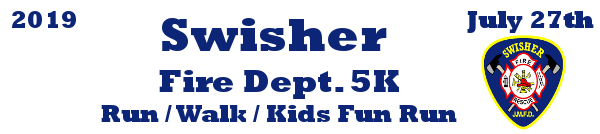 Swisher Fire Dept 5K registration logo