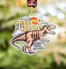 T-Rex 1M 5K 10K 13.1 and 26.2 registration logo