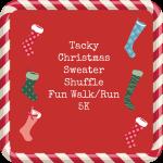 Tacky Christmas Sweater Shuffle 5K Walk Run registration logo