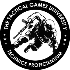 Tactical Games University at Texas Shooting Academy registration logo