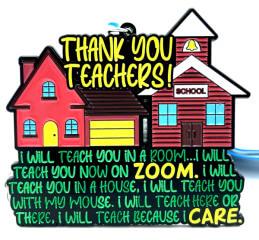 Teacher Appreciation 1M 5K 10K 13.1 26.2 registration logo