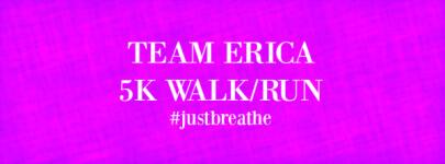 Team Erica 5K Walk/Run registration logo