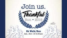 Thankful Run registration logo