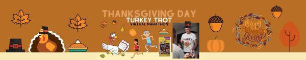 Thanksgiving Turkey Trot Virtual Marathon registration logo