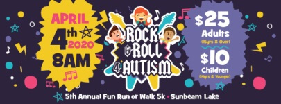 The 5th Annual 5K Fun Run or Walk for Autism registration logo