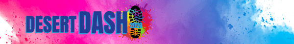The Desert Dash Color Run registration logo