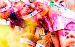 The Fun Color Run registration logo