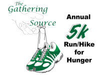 The Gathering Source 5K Run for Hunger registration logo
