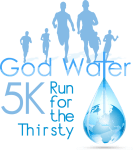 The God Water Run for the Thirsty 5K registration logo