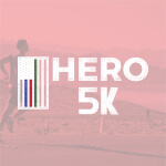 The Hero Half registration logo