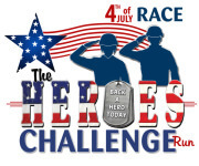 The Heroes' Challenge 4th of July registration logo