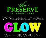 The Preserve at Laurel Lake 5K Winter Glow Run registration logo