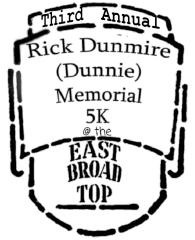 The Rick Dunmire memorial 5K registration logo