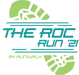 The ROC Run '21 registration logo