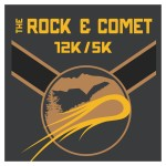 The Rock & Comet 12k/5k registration logo