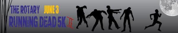 The Rotary Running Dead 5k 2 registration logo