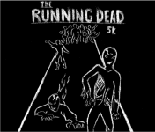 The Running Dead 5k Zombie Run registration logo