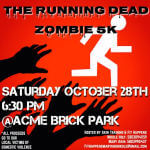 The Running Dead Zombie Run 2k17 registration logo