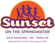 THE SUNSET ON THE SPRINGWATER registration logo