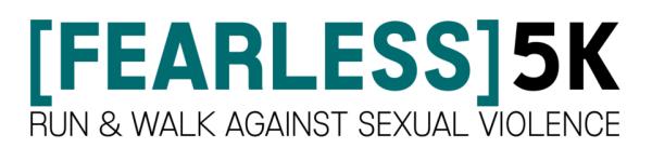 The UCASA Fearless 5K registration logo